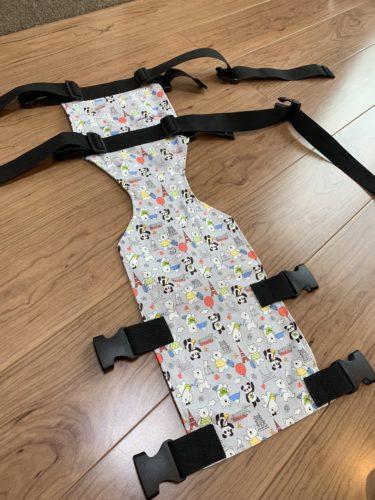 発達遅滞でお座りできない赤ちゃん用にチェアベルトを手作りしてみた